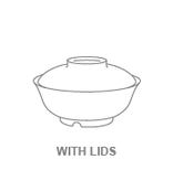 Bowls:With Lid