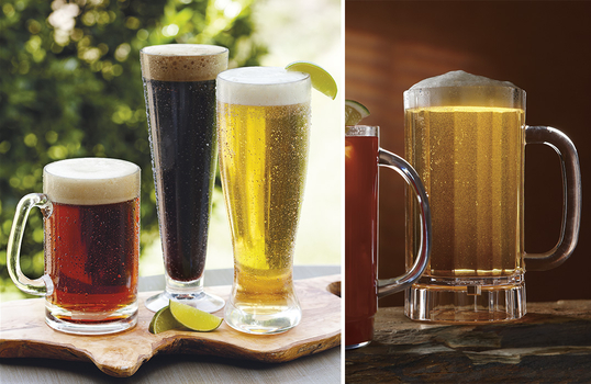 Beer Mugs, Shakers, & Pilsners