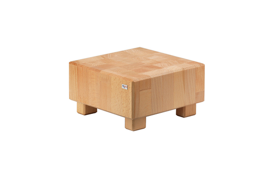"4.7"" tall Butcher Block Square Cube Riser Beech Wood"