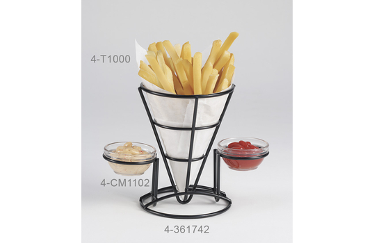 "Fry Cone w/ 2 Holders, 5"" dia."