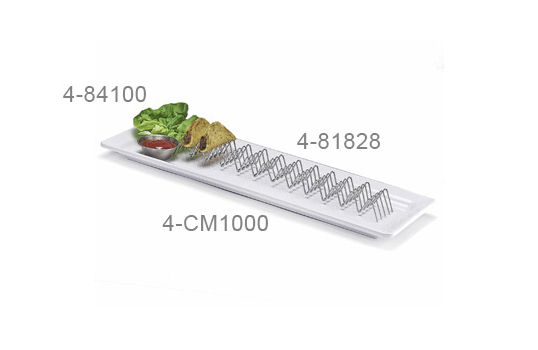 """15"""" x 2"""" Holder for 11 or 12 Mini Tacos"""