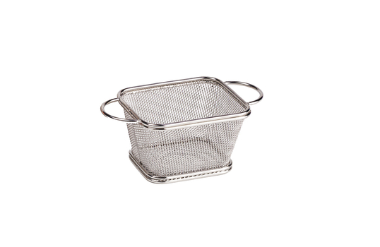 "4"" x 3.25"" Single Serving Fry Basket w/ Round Handles"