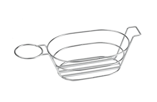 """13.75"""" x 6"""" Oval Basket w/ Handle and 1 Holder"""