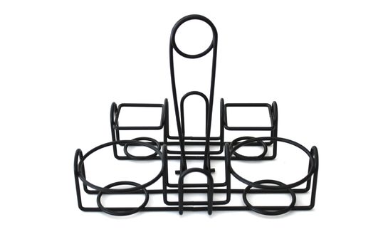 """9"""" x 7"""" Wire Caddy for Round Table Pizza"""