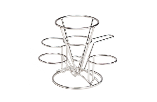 """Fry Cone w/ 3 Holders and Handle, 4.25"""" dia."""