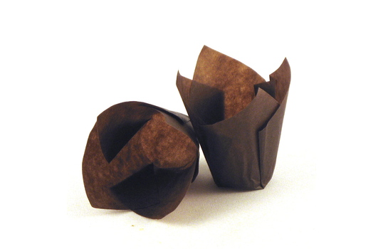 "4"" x 4"" Food-Safe Tulip Inserts, Brown"
