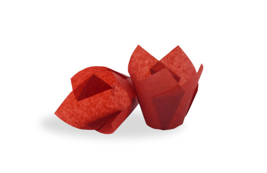 "4"" x 4"" Food-Safe Tulip Inserts, Red"