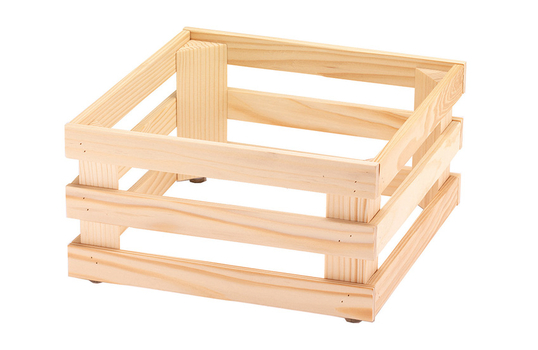 """13"""" x 13"""", 6.7""""  tall, Untreated Wooden Base Frame / Riser for Cold Food Displays"""