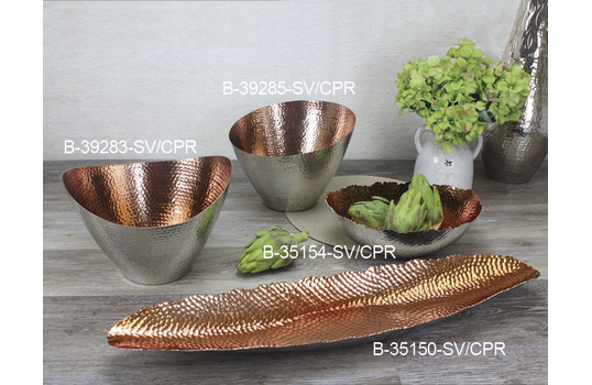 2.5 qt. Oval Copper Plated Aluminum Bowl
