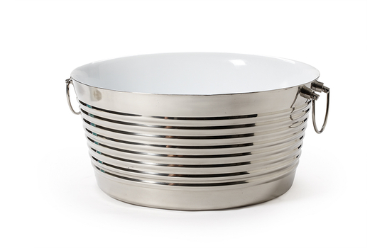 """3 gal., 14.75"""" Dia. Double Wall Stainless Steel Beverage Tub"""
