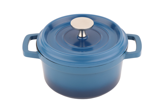 ".75 QT (.94 QT rim full) 6""Induction Round Dutch Oven w/Lid"