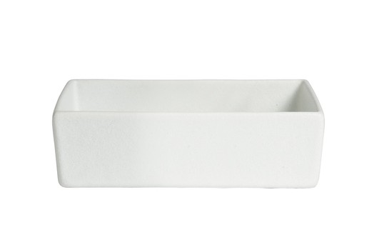 "9.75"" x 4.75"" Rectangular Straight Sided Salad Bowl, Mod Finish"