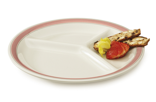 """10.25"""" 3-Compartment Plate"""