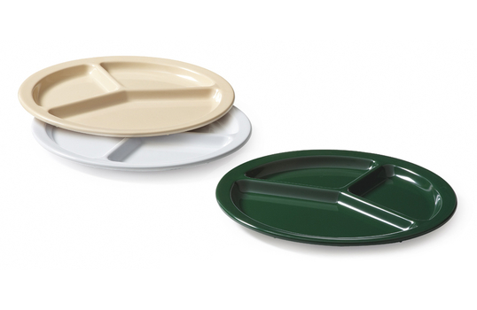 """10"""" 3-Compartment Plate"""