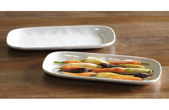 "14"" x 5.5"" Irregular Rectangular Platter"