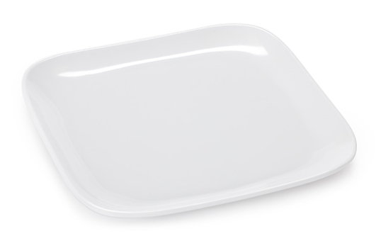 """9.5"""" Square Coupe Plate"""