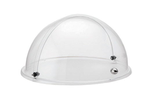 Clear Plastic Round Roll Top Dome Cover with Stainless Steel Knob