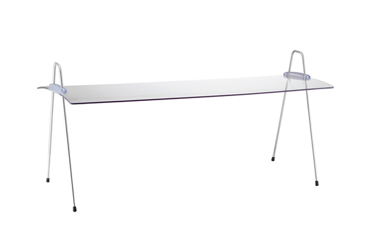 """Acrylic Rectangular Sneeze Guard, Portable and Adjustable Incline for a 29"""" Display"""