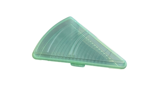 """10.5"""" L x 8.25"""" W, Polypropylene, Single Pizza Slice Reusable Container with Snap Closure"""
