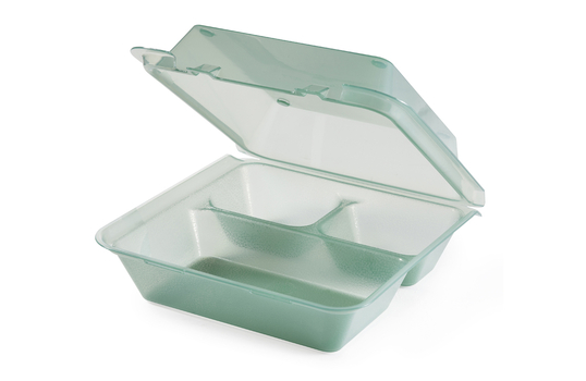 "9"" x 9"" 3-Compartment Food Container"