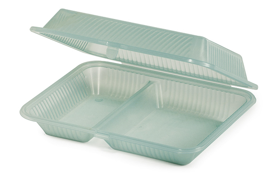 "10"" x 8"" 2-Compartment Food Container"