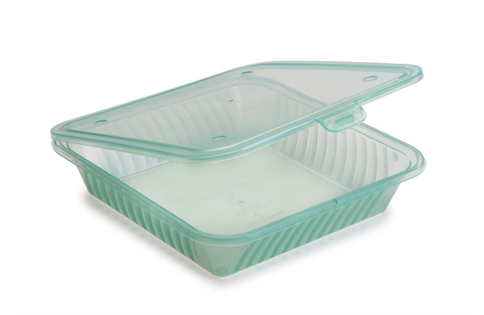 "9"" x 9"" Flat Top Single Entrée Food Container"