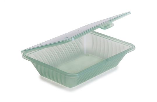 "9"" x 6.5"" Flat Top Half Size Food Container"