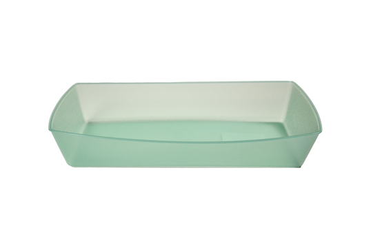 "10"" L x 5.5"" W x 1.75"" H, Polypropylene, Reusable Rectangular Food Tray"
