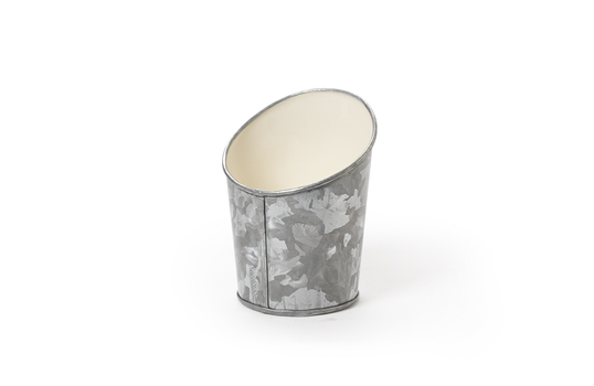 """3.5"""" Dia. Angled Galvanized French Fry Cup"""