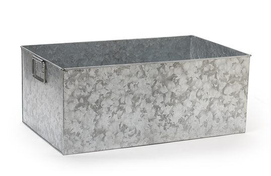 "8.5 gal., 20"" x 12"" Rectangular Galvanized Beverage Tub"