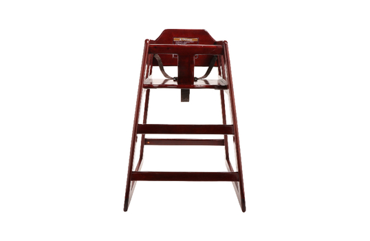 High Chair Modified, Mahogany Wood, Assembled, Pallet Special- Call Customer Service for Price