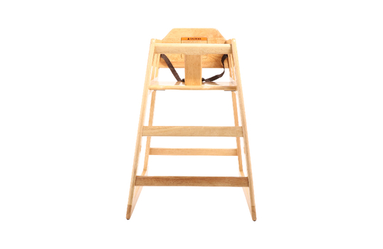 High Chair Modified, Natural Wood, Assembled