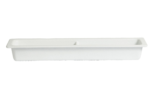 3 qt. Half Size Long Food Pan 2/4 with Horizontal divider, Classic Finish