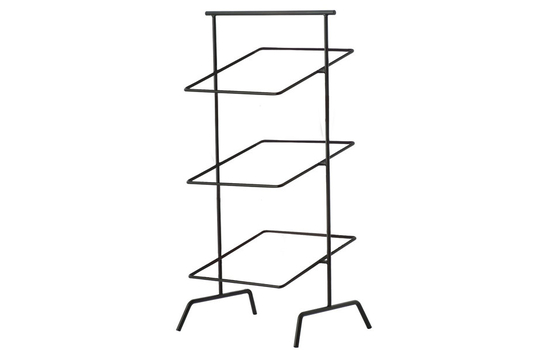 "12"" Square 3-Tier Basket Stand"