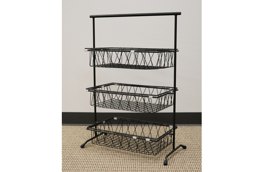 "22.75"" x 11"" Rectangular 3-Tier Pane Stand"
