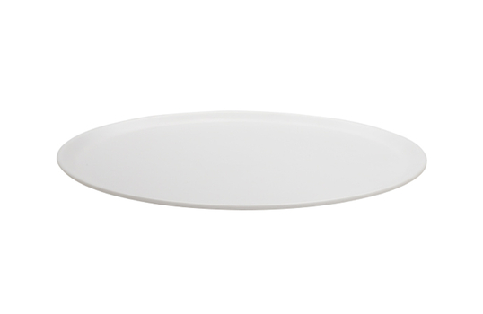 "11.25"" Dia. White Round Melamine Display Tray / Plate"