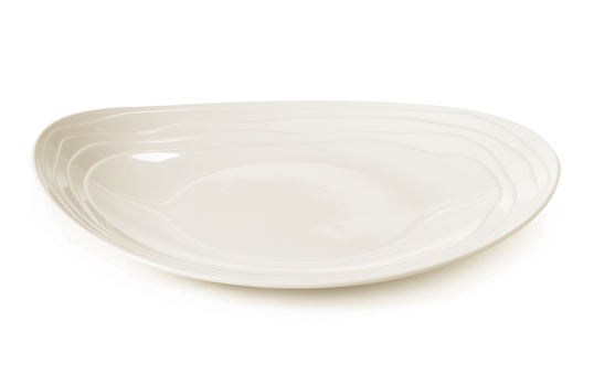 """11.5"""" x 9.75"""" Textured Rim Oval Coupe Platter"""