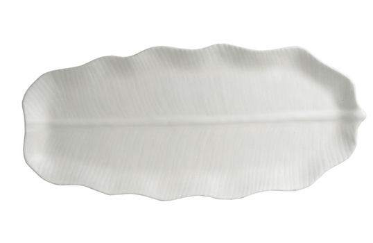 "19.7"" x 9"" S Palm Platter, Classic Finish"