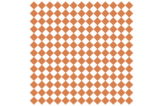 "12"" x 12"" Grease-Resistant Food-Safe Sandwich Wrap Paper / Deli Wrap Paper / Orange Checker on White Paper"