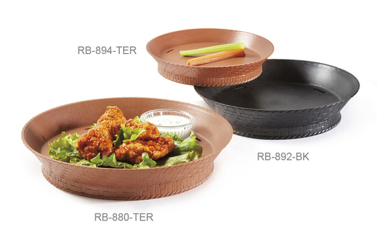 """7.27"""" Round Basket with Base and Slots for Drainage"""