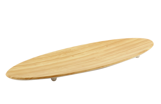 """25.5"""" x 10.25"""" Surf Board Shapped Faux Bamboo Platter"""