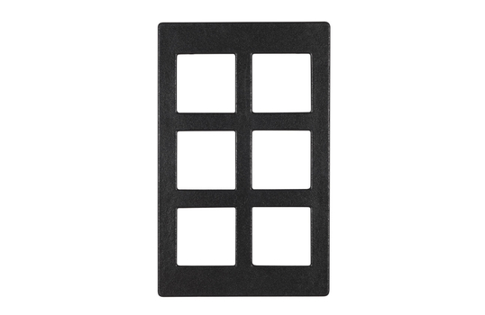 """20.82"""" x 12.75"""" Single Tile with Six Square openings, Classic Finish"""