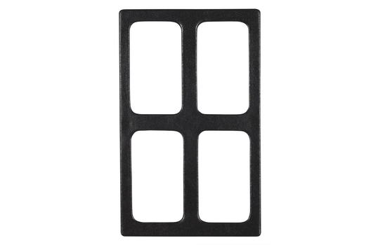 """20.82"""" x 12.75"""" Single Tile with 4 Rectangular Openings, Classic Finish"""