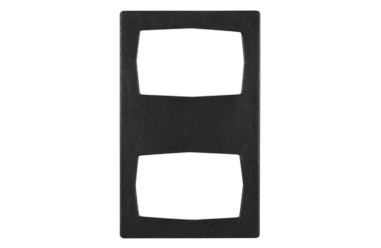 """20.82"""" x 12.75"""" Single Tile with 2 Rectangular Openings, Classic Finish"""