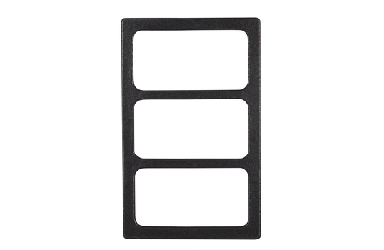 """21.69"""" x 13.25"""" Single Tile with 3 Rectangular Openings, Classic Finish"""
