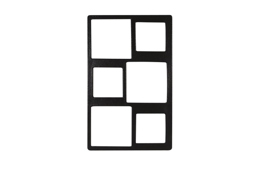 """21.69"""" x 13.25"""" Single Tile with Six Square openings, Classic Finish"""