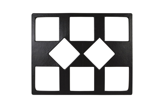 "21.69"" x 26.5"" Double Tile with Eight Square openings, Mod Finish"