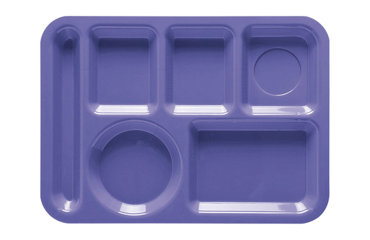"""13.75"""" x 9.875"""" Left Handed 6-Compartment Tray"""