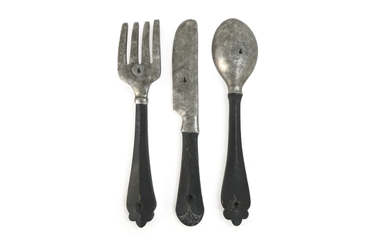 Set Of 3 Poly Resin Utensil Wall Décor   Spoon, Fork, U0026 Knife