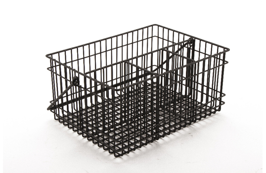 "Condiment Basket 10"" x 6.9"" x 9"", Gun Metal Grey"